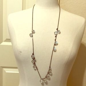 J. Crew clear bead necklace